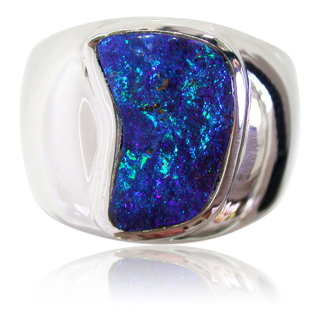 Blue Green S/S Gents Ring