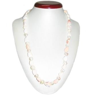 Freshwater Pearl and Light Opal Bead Necklace