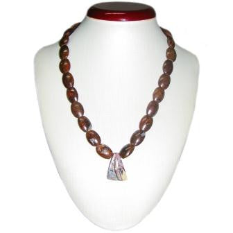 Boulder Bead Necklace with Boulder Slide Pendant