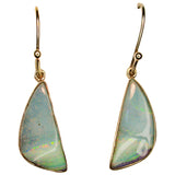 Pastel Pink Boulder Opal Drop Earrings