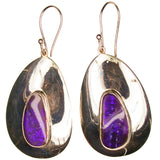 Large Purple Boulder Opal Drop Earrings