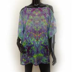 Green Blue Multi Colour Tab Kaftan