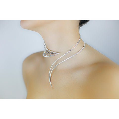 White Gold and Diamond Choker Necklace