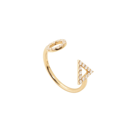 April Diamond Ring in 18ct Gold with Diamonds, adjustable