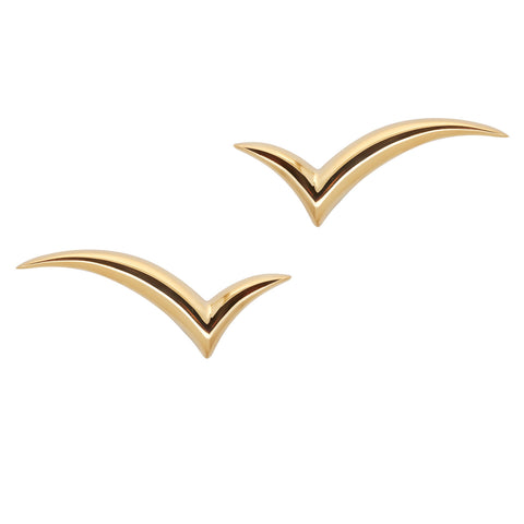 Fly with me Earrings in 18ct Gold, lightweight