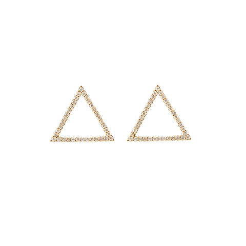 Diamong Earrings in 18ct Gold with Diamonds