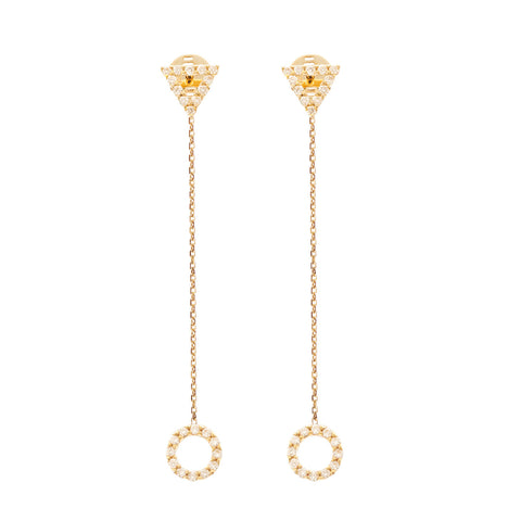 Diamond 18ct Drop earrings
