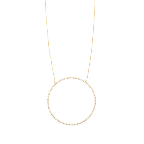 Diamond Necklace in 18ct Gold with Diamonds