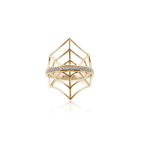 Gold Web Ring