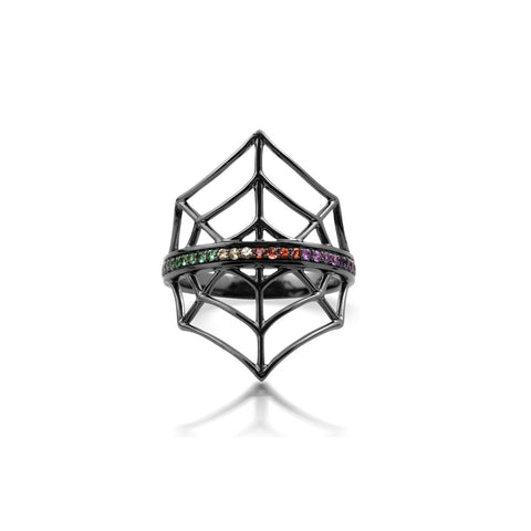 Colourful Gemstone Web Ring