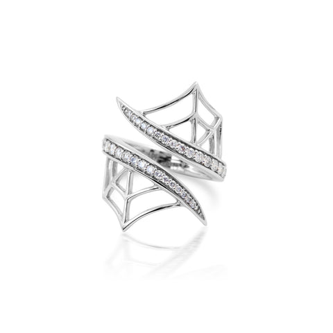 White Gold Web Ring