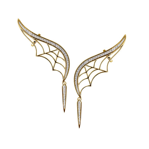 Gold Wings Earrings