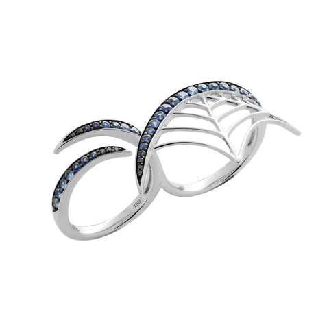 White Gold Ring with Blue Sapphire