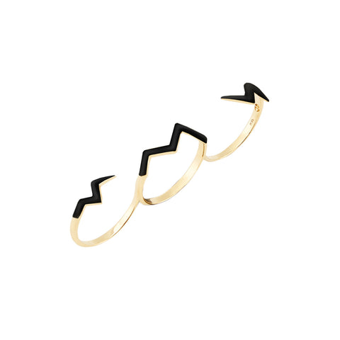 Designer Branch Ring in 18ct Gold, lightweight