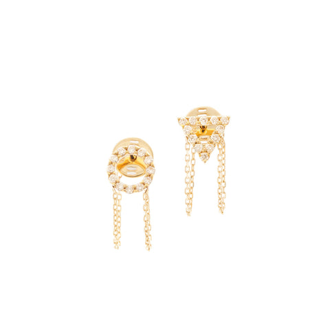 April Diamond Earrings in 18ct Gold with Diamonds