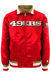 Starter 49ers Red Zip Up Varsity Jacket