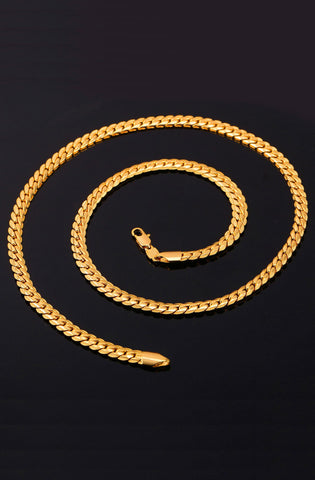 Gold 6mm Cuban Link Miami Style Necklace