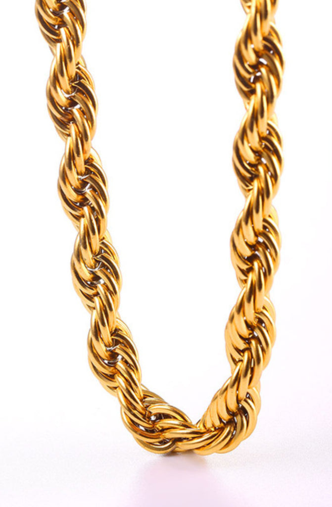 Gold 9mm Rope Necklace