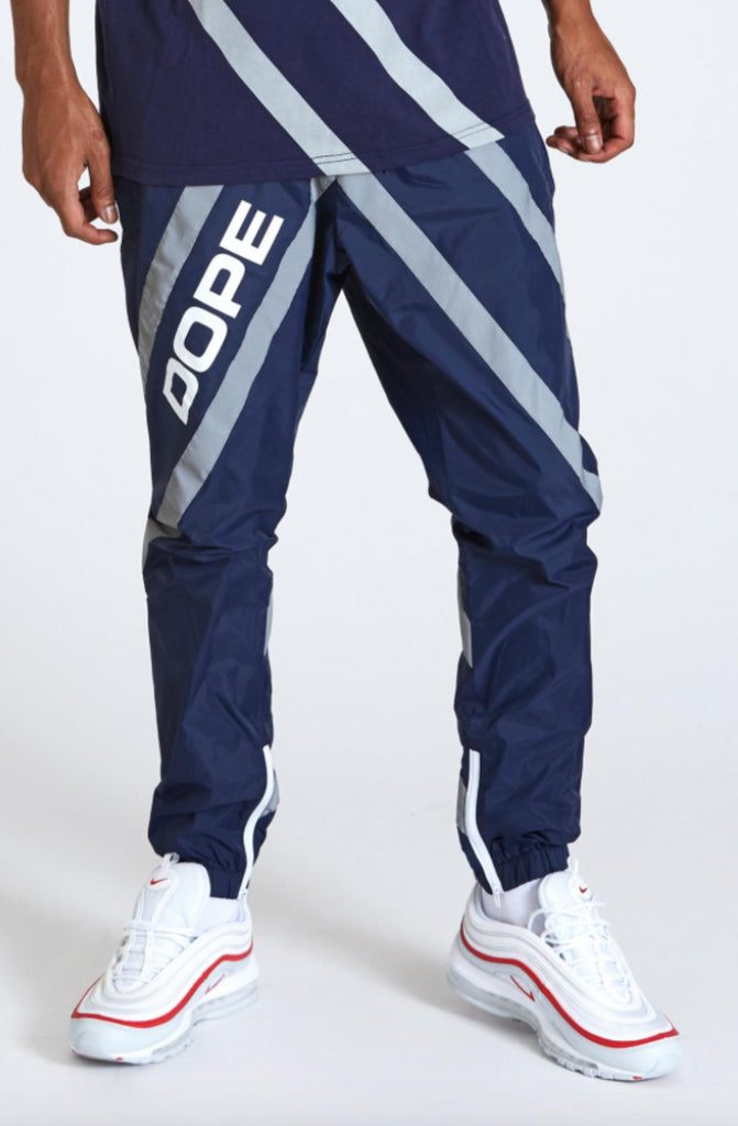 Dope Wired Reflective Joggers Blue
