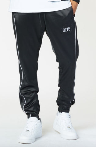 Dope Sideline Satin Joggers Brown/Black