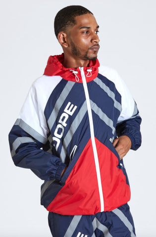 Dope Wired Reflective Windbreaker Blue/Red
