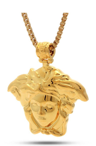Gold Medusa Necklace