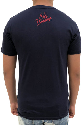 Stay Winning Hyphy By Nature Navy/Red Tee