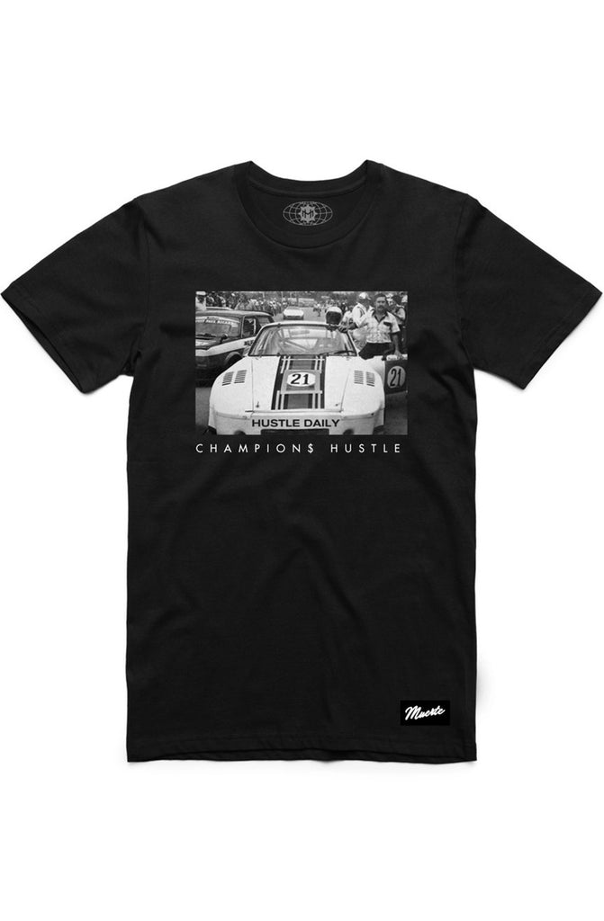 Hasta Muerte Hustle Race Car Black Tee