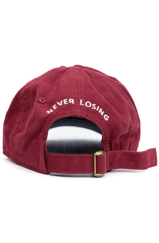 Stay Winning Maroon/White Dad Hat