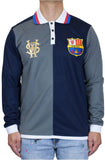 Stay Winning Long Sleeve Navy Blue Soccer Polo Tee