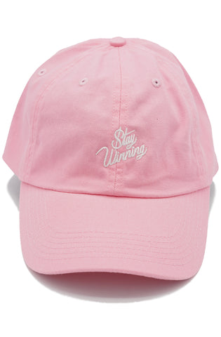 Stay Winning Pink/White Dad Hat
