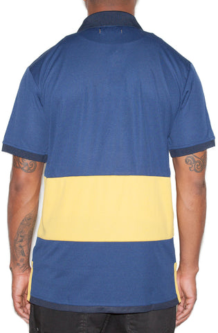 Stay Winning Navy/Yellow Soccer Polo Tee