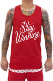 Stay Winning Script Red Tank Top