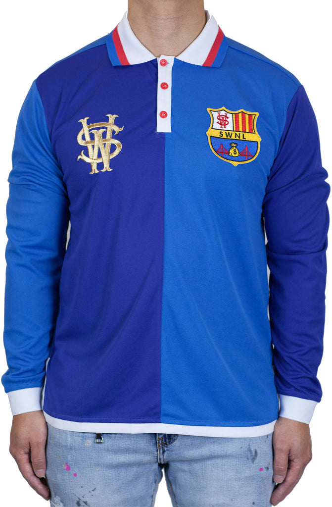 Stay Winning Long Sleeve Royal Blue Soccer Polo Tee