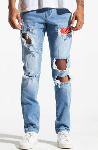 Crysp Skywalker Biker Denim (Gray Ombre)