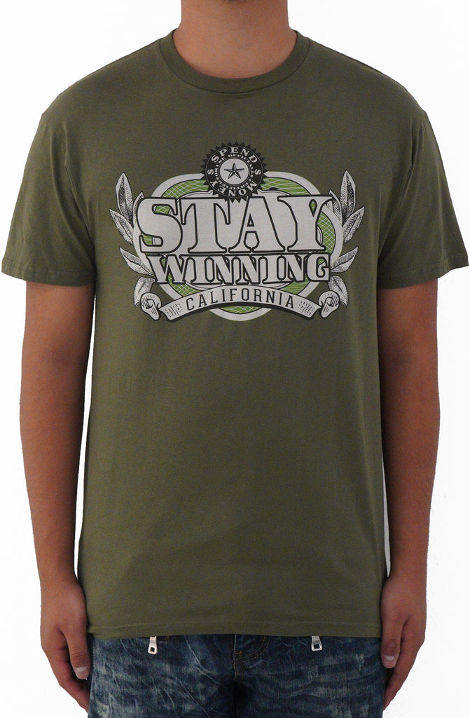 Stay Winning Spend Money Green Tee