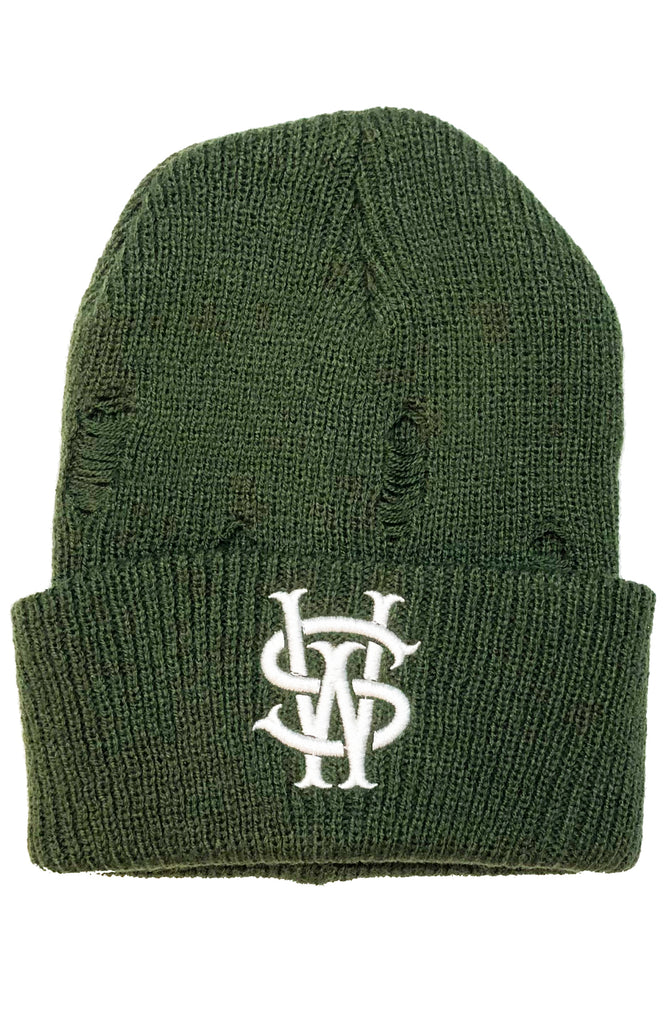 Stay Winning SW Distressed Olive Beanie