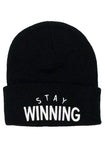 Stay Winning Black Beanie