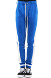 EPTM Blue & Off-White Ribbed Track Pants
