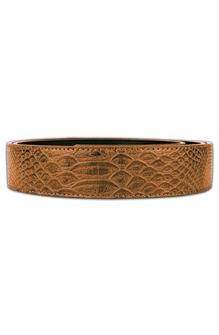 Mint Anaconda Leather Belt (Black)