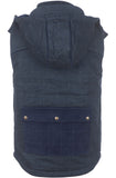Jachs New York Indigo Blue Hooded Vest Jacket
