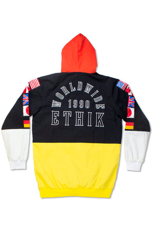 Ethik Black World Renowned Hooded Twill Jacket