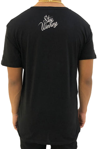 Stay Winning Never Losing Trophy Black Tee