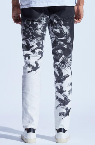 Embellish Boylen Birds Denim (Black/White)