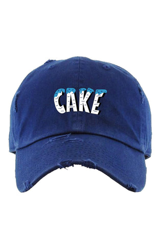 "Planet Of The Grapes Navy Blue ""Cake"" Dad Hat (White)"
