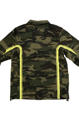 Pink Dolphin Motors Green Camo Denim Zip Up Jacket