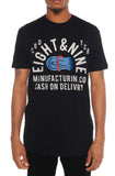 Eight & Nine Cash On Delivery Navy Blue Vintage Tee