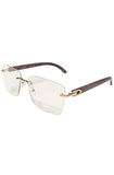 Floats Miami Clear Glasses (Brown)