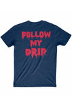 Fly Supply DrIp Navy Tee