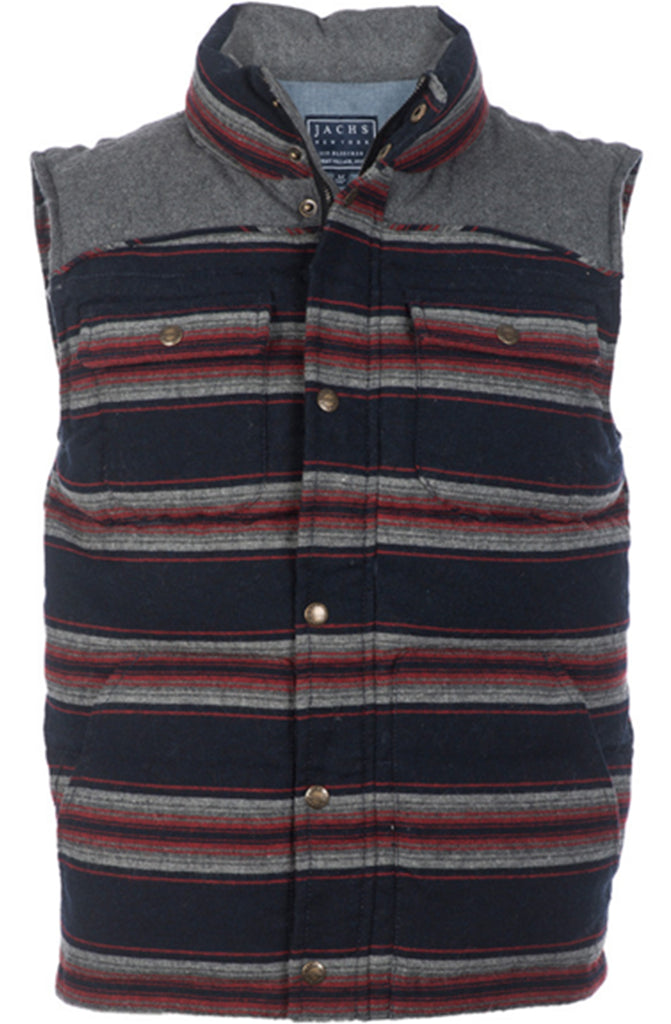 Jachs New York Wool Blend Navy & Red Puffer Vest